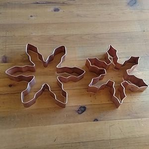 """Copper Heavy Quality Snowflake Cookie Cutters 5/6"""""""